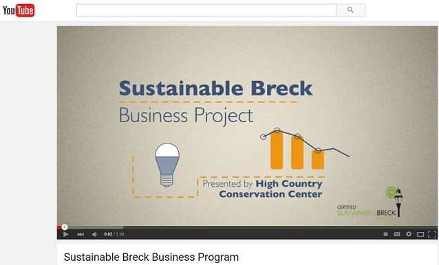 SustainableBreck Business Program You Tube