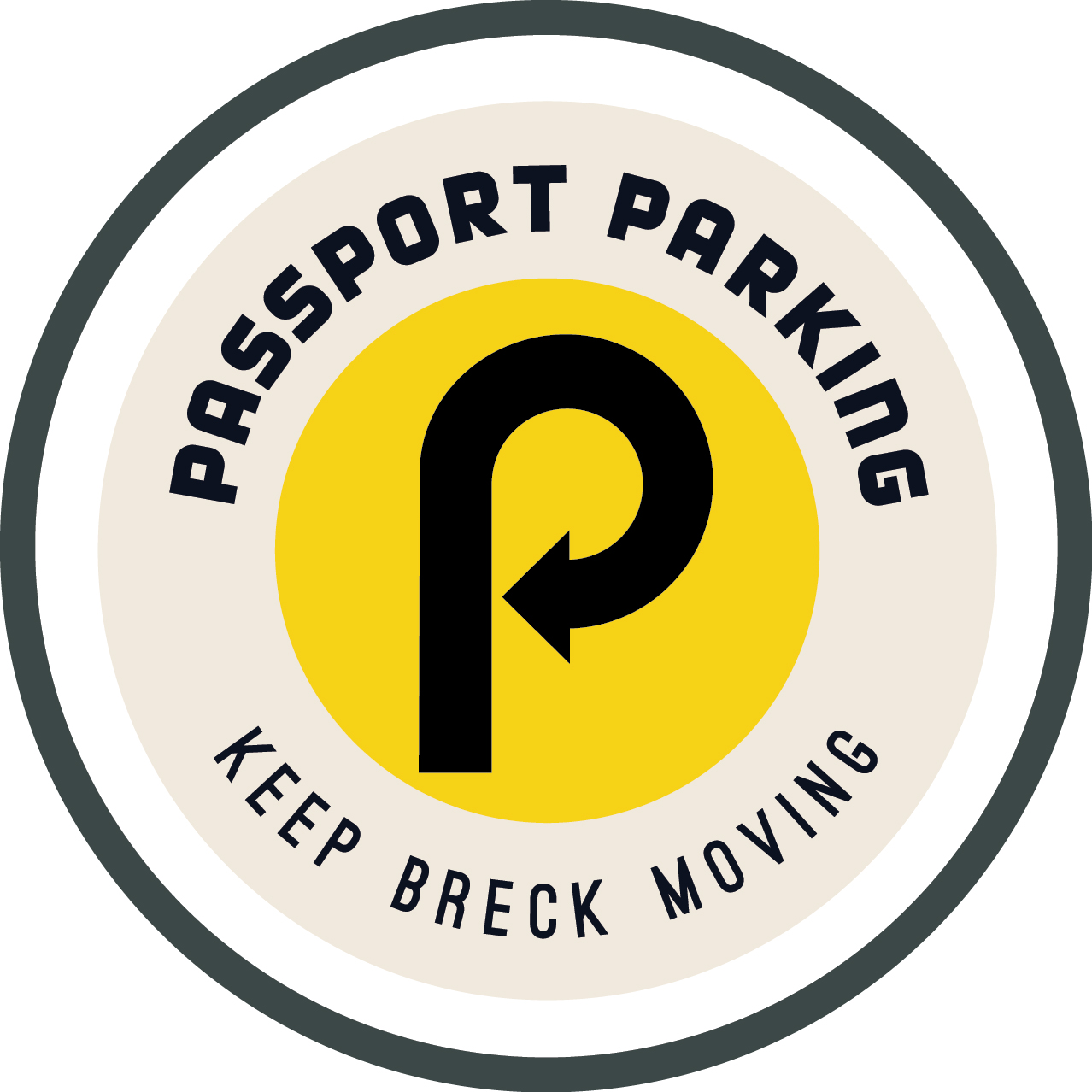 Passport Parking Keep Breck Moving logo