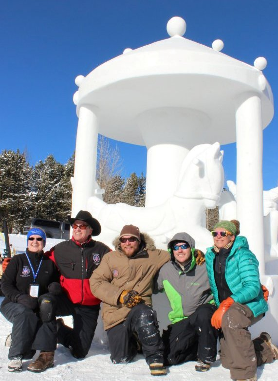 Snow Sculpture Championships Team Breck sculptors