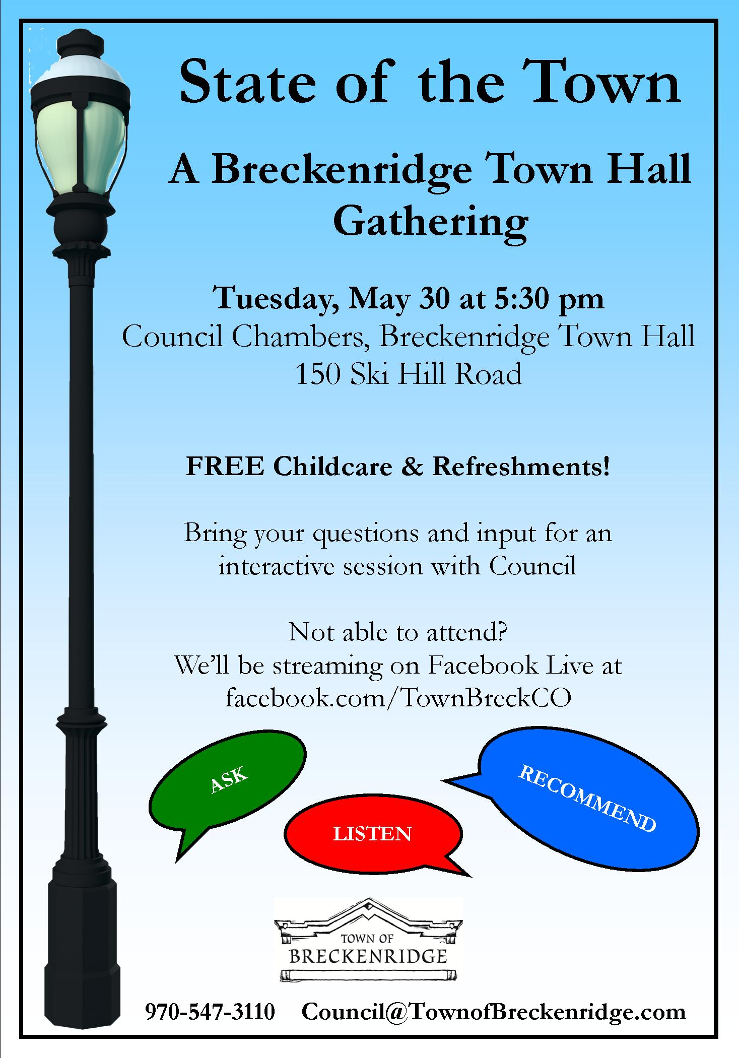 State of the Town, a Town Hall Gathering