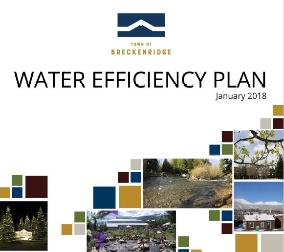 Cover of the Breckenridge Water Efficiency Plan