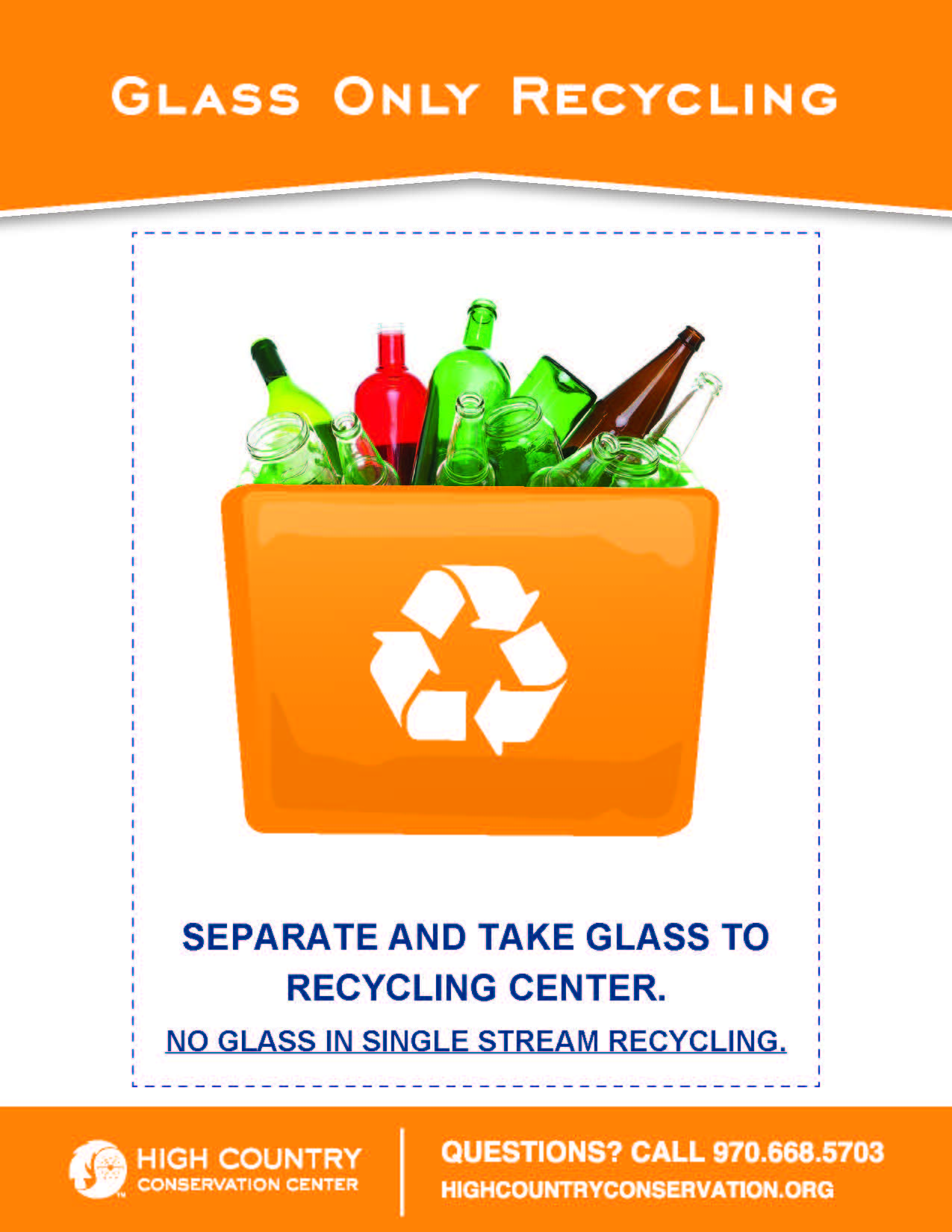 Information describing glass recycling