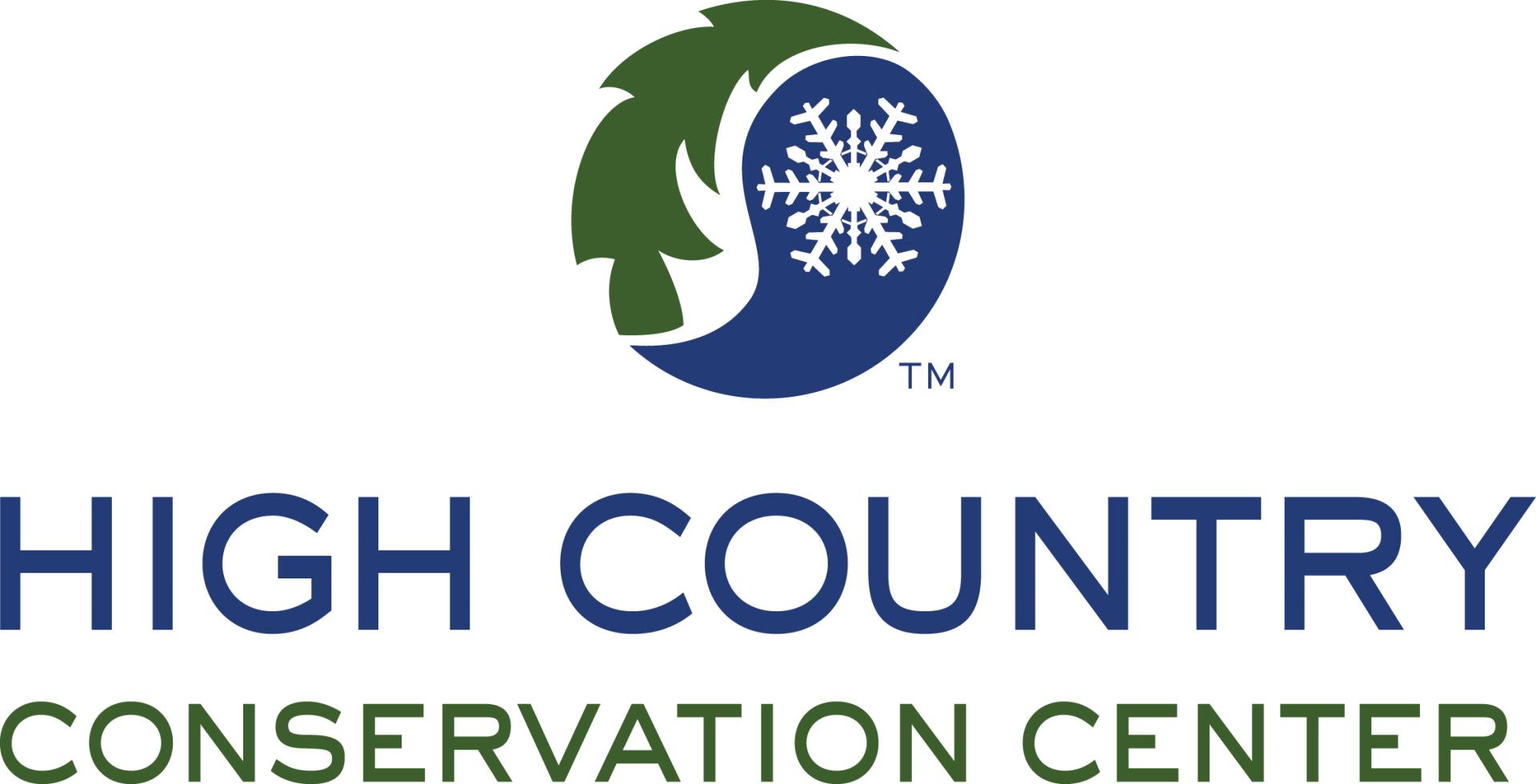 high country conservation center logo in blue and green