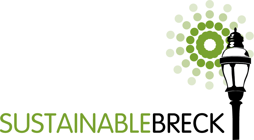 sustainable breck large logo with lamp and sun