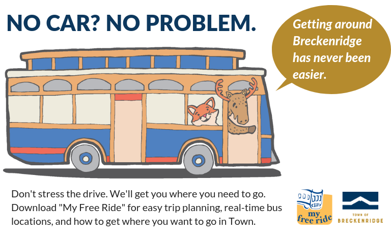 No Car No Problem, Use My Free Ride App to easily get across Town on our free bus system