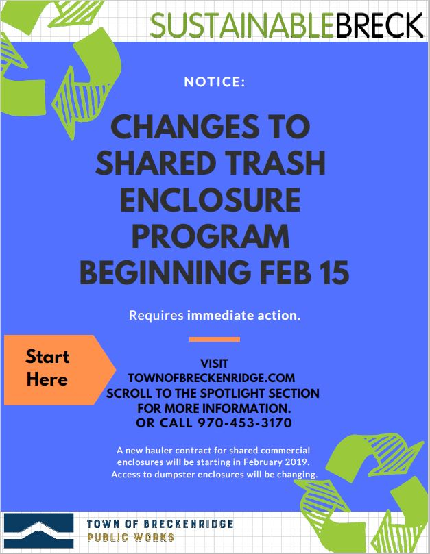 NOTICE: Shared Dumpster Enclosure Changes