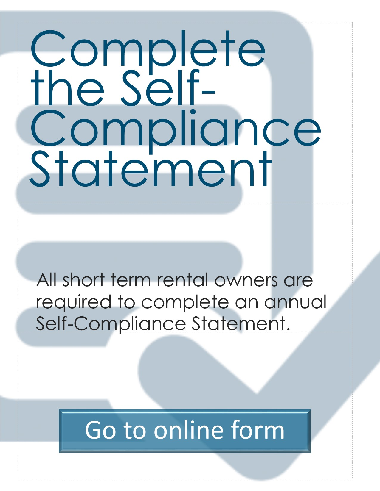 Self-Compliance Statement button