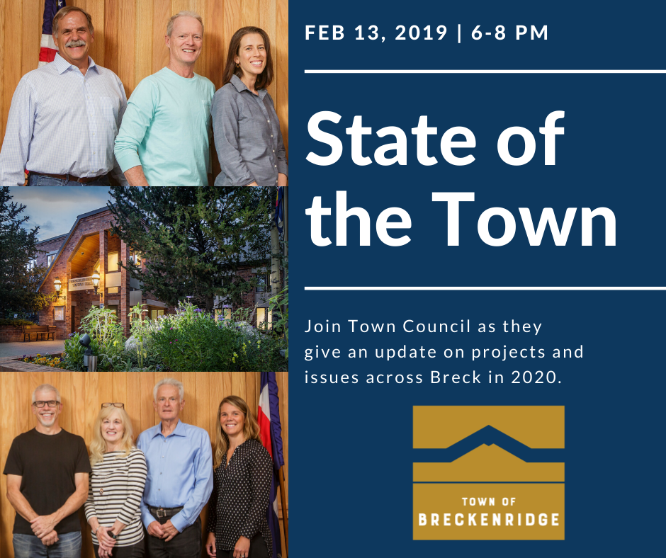 State of the Town February 13 2019 from 6-8 pm at 150 Ski Hill Road