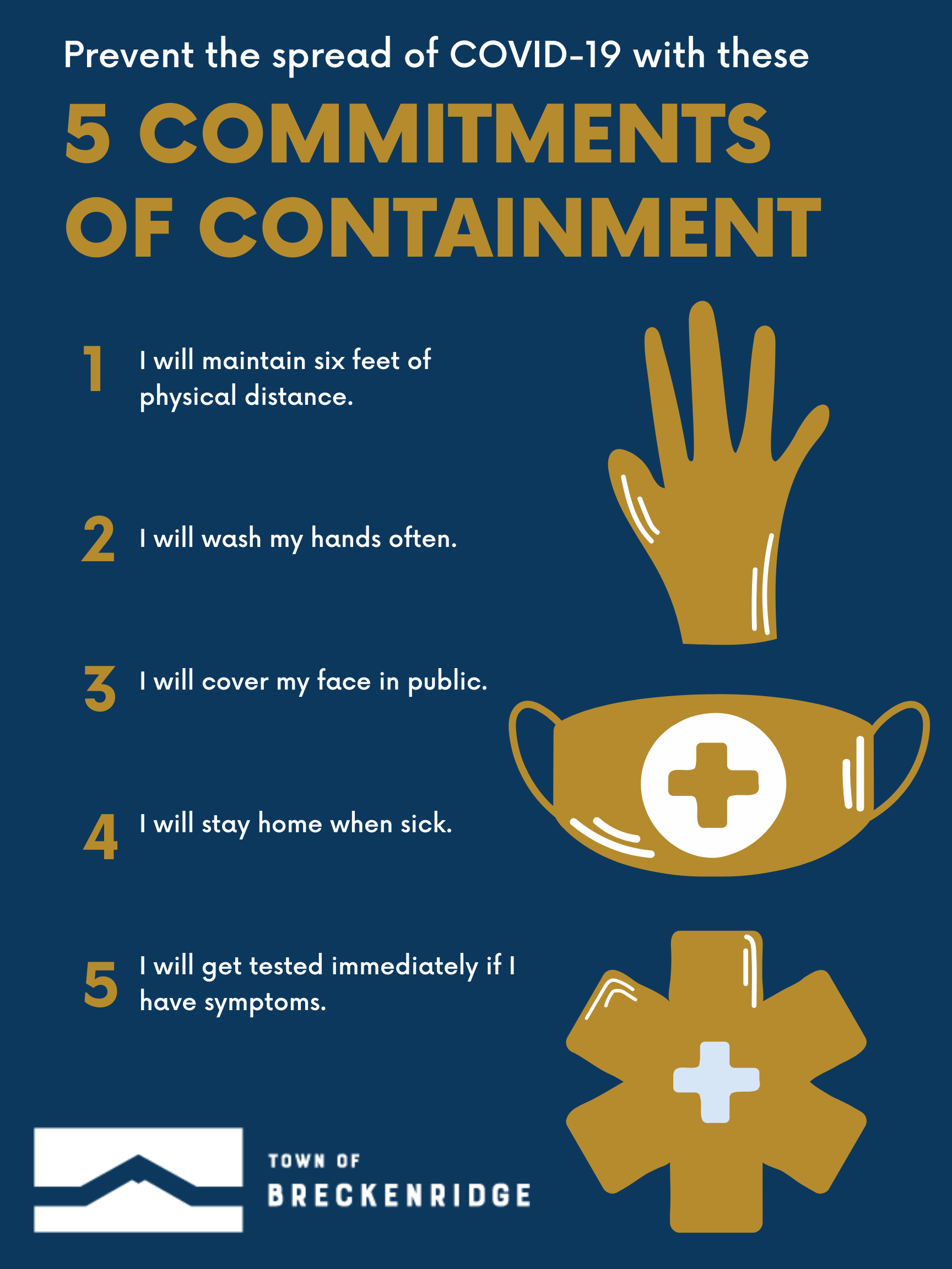 Prevent the spread of COVID-19 with these 5 Commitments of Containment