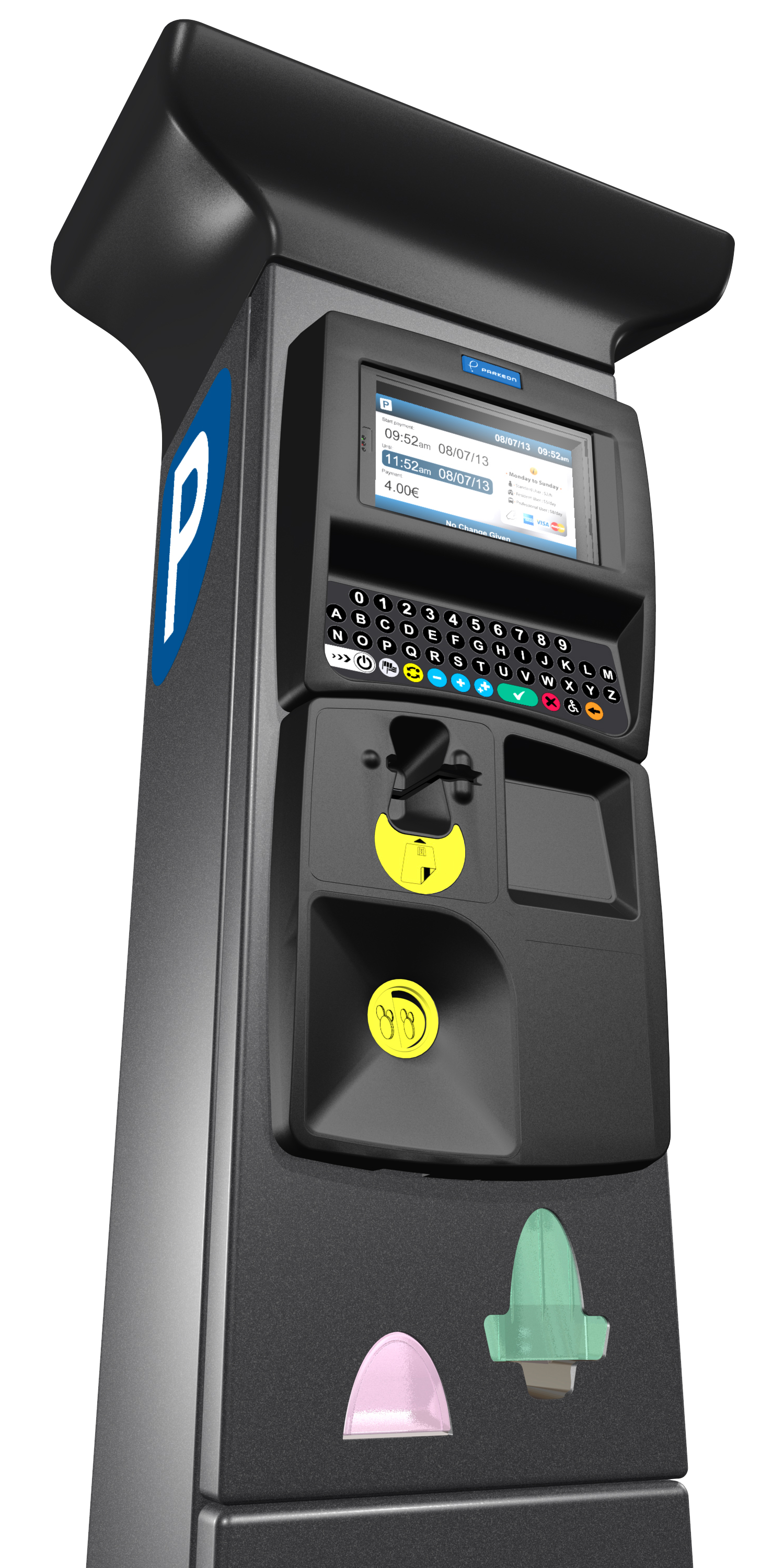 Pay parking machines